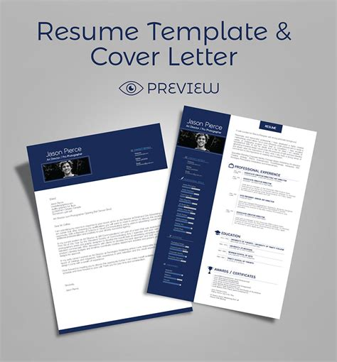 simple premium resume cv design cover letter template