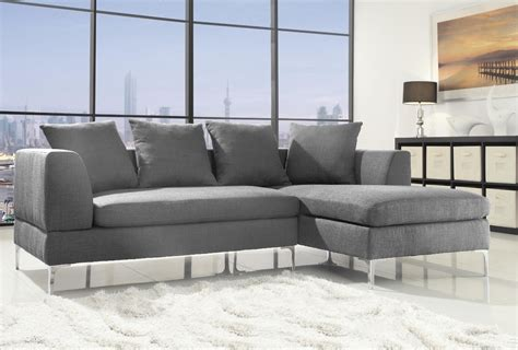 cheap settee modern corner sofa grey linen fabric l shaped rh chaise