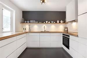 Buche Küche Welche Wandfarbe : k che grau mit holz ~ Bigdaddyawards.com Haus und Dekorationen