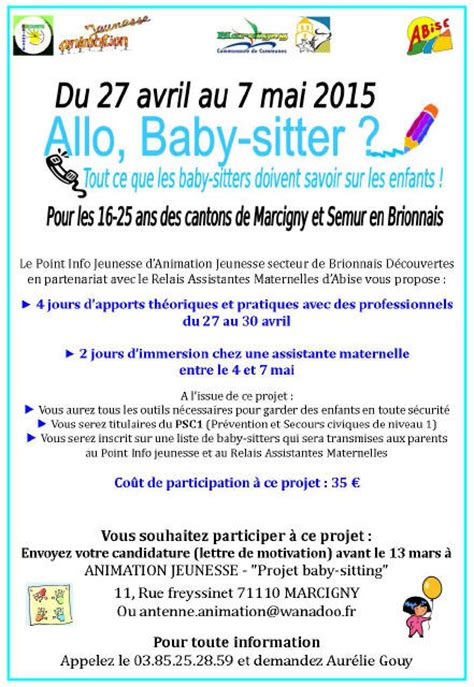 modèle annonce baby sitting word date limite pour candidature 171 project baby sitting