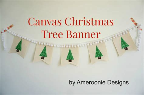 canvas christmas tree banner skip   lou