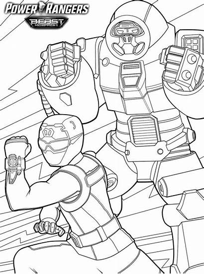 Ranger Rangers Beast Power Morphers Smash Coloring
