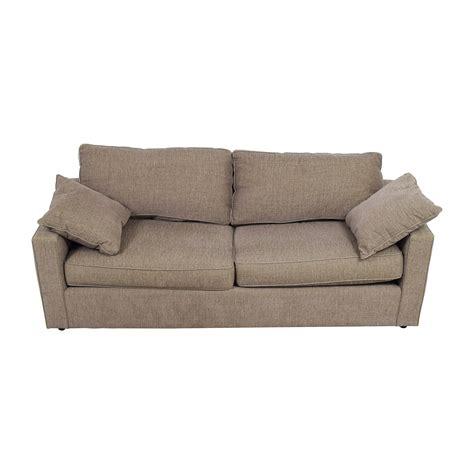 room board sofa 83 off room board room board brown two cushion sofa