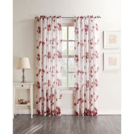 better homes and gardens curtains better homes and gardens kera textured floral sheer voile