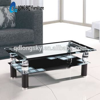 ls 1156 cheap glass coffee table easy cleaning black