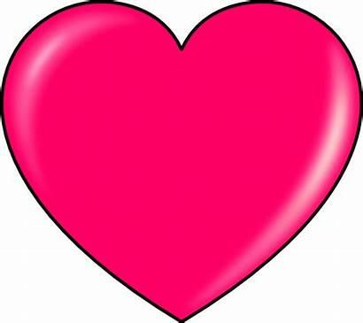 Pink Heart Clip Hearts Clipart Clker Svg