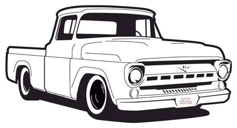pin  samantha newsom  draw  images ford trucks ford pickup cars coloring pages