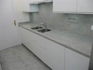 Plan De Travail Granit : plan de cuisine france azur en granit kashmir white ~ Dailycaller-alerts.com Idées de Décoration