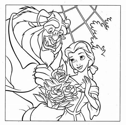 Disney Coloring Pages Princess Belle Colouring Printables