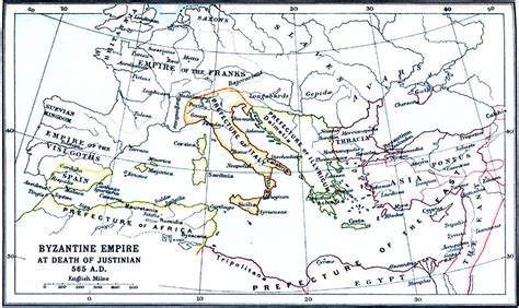 Byzantine Empire At Death Of Justinian