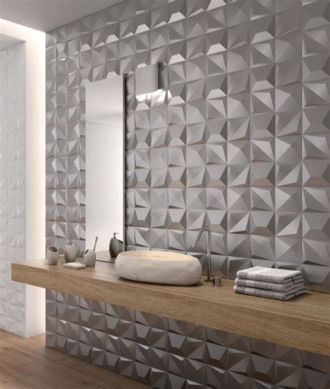 25 best ideas about 3d tiles on 3d wall tiles geometric tiles and bathroom fireplace