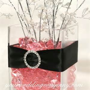 Pink and Black Wedding Centerpiece Ideas