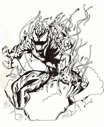 Carnage Marvel Deviantart Drawings Line Gate Simple