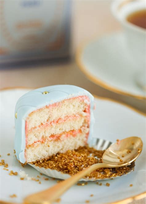 Strawberry Baby Shower Cake by Quilted Petit Fours Thirsty For Tea