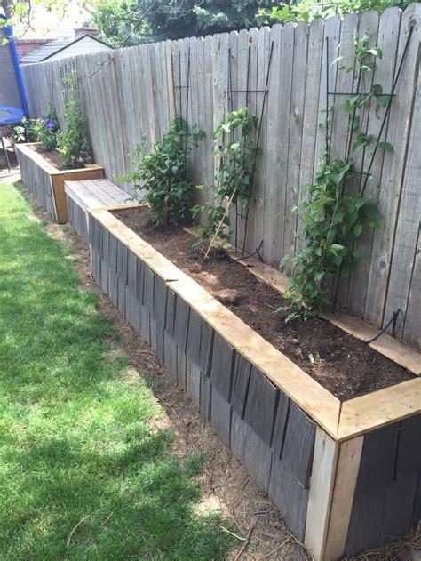 raised garden bed  fence final phase  leftover