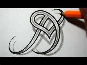 Letter D Heart Tattoo