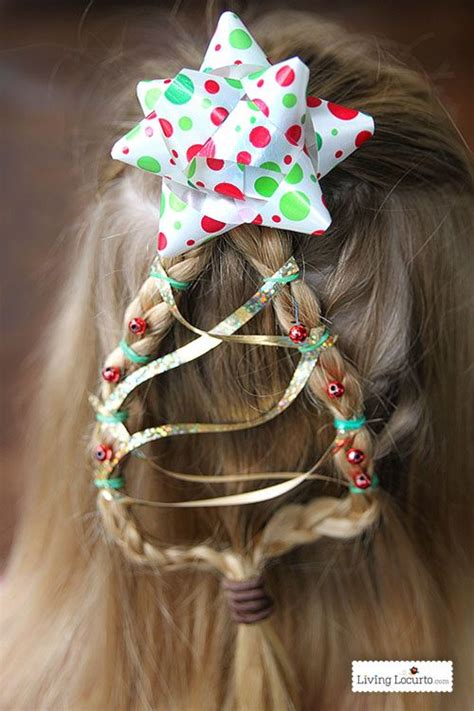 christmas tree braid cute hairstyle hair eyes nails and more holiday hairstyles