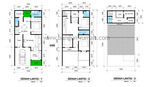 desain rumah  lahan    contoh