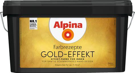 Gold Farbe Wand by Effektfarbe Kreativ Wandfarbe Gold Alpina Farbrezepte