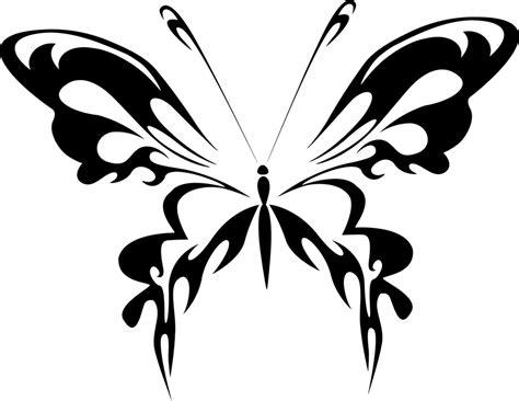 batik kupu kupu free vector graphic abstract animal black butterfly