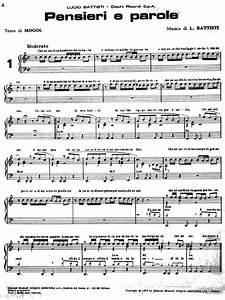 Pensieri E Parole : spartiti pianoforte lucio battisti pensieri e parole ~ Melissatoandfro.com Idées de Décoration