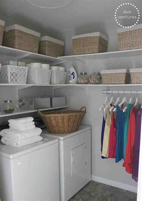 laundry room storage bins decor ideas