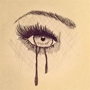 Crying eye drawing   Eyes   Pinterest   Eyes, Drawings and ...