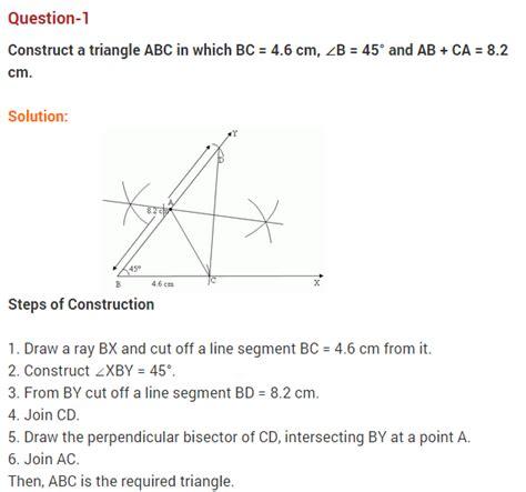 constructions class 9 questions maths chapter 11