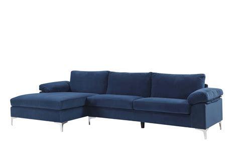 amanda modern velvet large sectional sofa sectional with ottoman angolo 1 modern sectional with