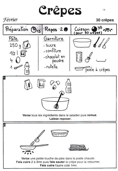 coloriage recette de cuisine la chandeleur mardi gras crèpes et recettes illustrées quoi de 9 doctole