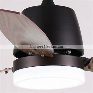 European brown inch led ceiling fan with lights