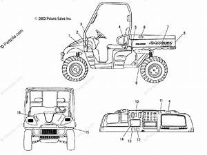 Polaris Side By Side 2004 Oem Parts Diagram For Decals
