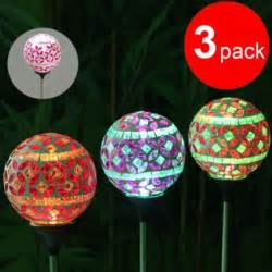 buy hallomall solar powered pink mosaic glass garden light color changing solar lawn