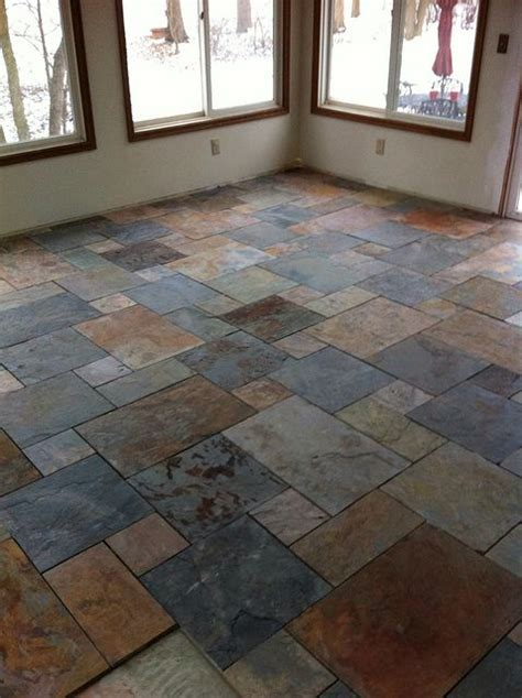 Slate tile with pattern; hopefully in the kitchen and/or