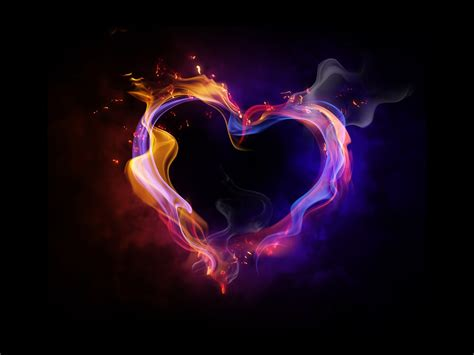 fire heart love hd wallpaper p hd wallpaper