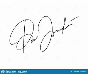 Manual Signature For Documents On White Background  Hand