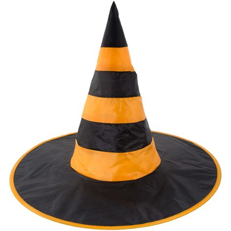 orange witch hat witch hat orange black stripes 00715 org