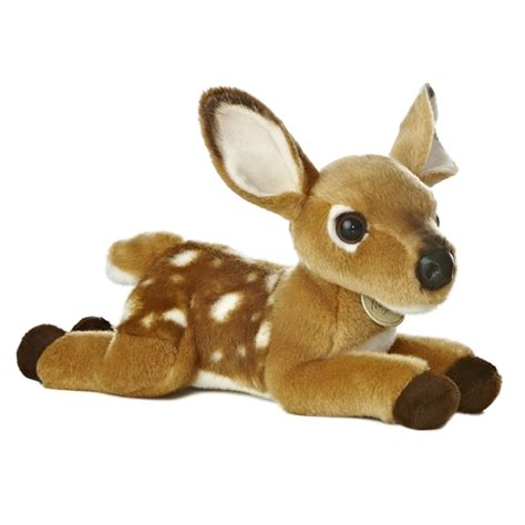 realistic stuffed deer fawn 11 inch plush animal by aurora