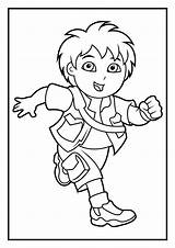Coloring Diego Pages Dora Marquez Printable Getcoloringpages sketch template