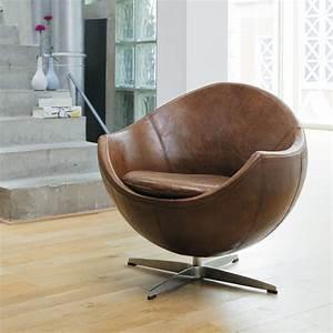 Fauteuil Cuir Marron Vintage : fauteuil vintage cuir marron mars ~ Teatrodelosmanantiales.com Idées de Décoration