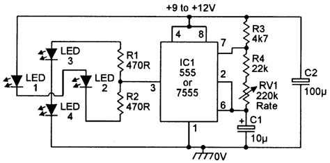 Practical Led Indicator Flasher Circuits Nuts