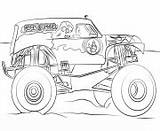 Coloring Digger Monster Grave Truck Pages Printable Bigfoot Jam sketch template
