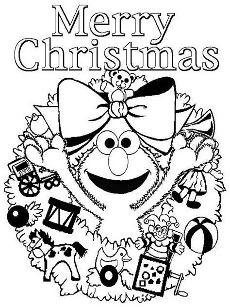 elmo christmas printable coloring pages  printable
