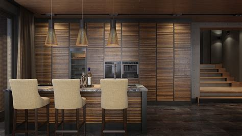 luxury home decor combined  wooden  brick wall accent design  presenting