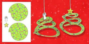 Simple Paper Tree Ornament Craft Activity  Activities, Crafts