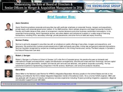 Modernizing The Role Of Board Of Directors & Senior