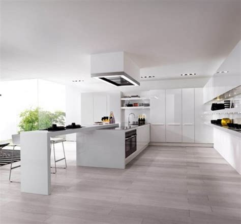 Colorful Kitchens Modern White With Wood Floors Latest Of
