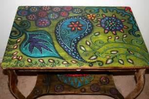 Small Decorative Suitcase by Ideas For Hand Painted Table Tops