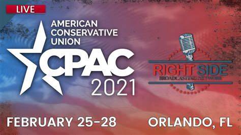 Broadcasting & media production company. CPAC 2021 LIVE Coverage from Orlando, FL - Day 1 - Right ...