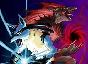 Lucario and Zoroark by pablog143 on DeviantArt